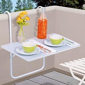 Table de balcon suspendue ajustable en hauteur coloris - Table de jardinage en hauteur ...