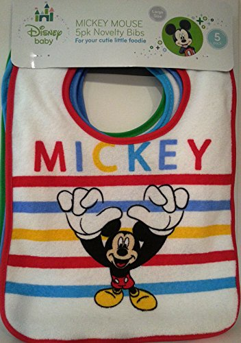 Mickey Mouse 5pk Baby Bibs