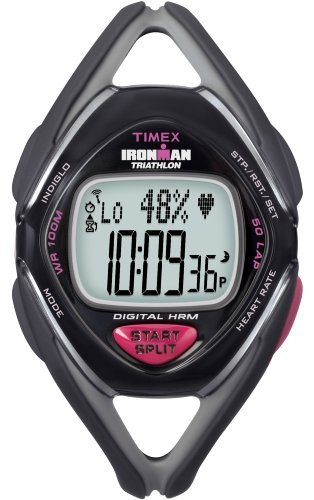 Cheap Timex Ironman Midsize Race Trainer Heart Rate Monitor with Data Xchanger Watch, Black/Grey, Mid Size (T5K264F5)