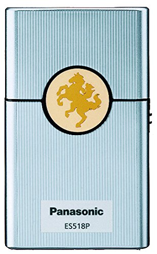 Panasonic Men's Card-type Compact Shaver ES518P-S Silver   DC3V (2 x AAA Alkaline) (Japan Model)