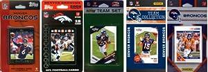 NFL Denver Broncos Five Different Licensed Trading Card Team Sets by C&I Collectables