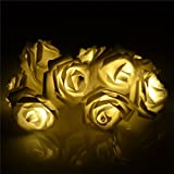 HQdeal Romantic Rose Fairy Lights LED Lights Home Decoration Lights Holiday Decorative Lights Christmas Lights