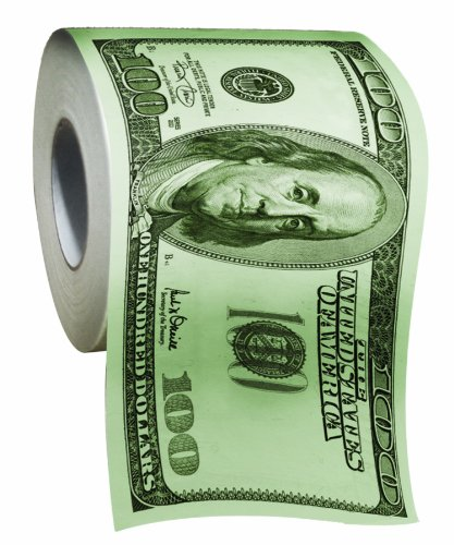 BigMouth Inc 100 Dollar Money Funny Toilet Paper (Colored Toilet Paper compare prices)