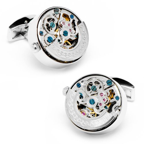 Penny Black 40 Stainless Steel Kinetic Watch Movement Cufflinks (Pb-Kwm-Stl)