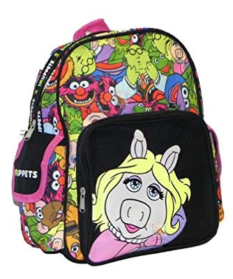 "12"" The Muppets Ms Piggy Backpack-tote-bag-school"