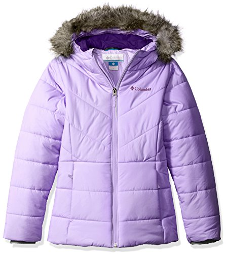 Columbia Girls' Big Girls' Katelyn Crest Jacket, Hydrangea, Small (7/8) (Down Jacket Kids compare prices)