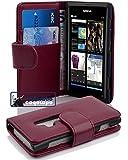 Cadorabo ! PREMIUM - Book Style Hülle im Portemonnaie Design für Nokia Lumia 800 in BORDEAUX-LILA