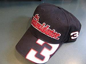 Dale Earnhardt Sr #3 The Intimidator With Large #3 On Brow of Hat Black With Red... by Winner