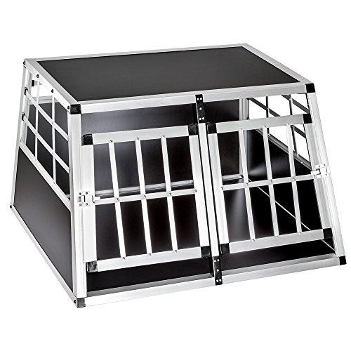 TecTake Box per trasporto cane doppio (L/P/A: 89/69/50 cm)