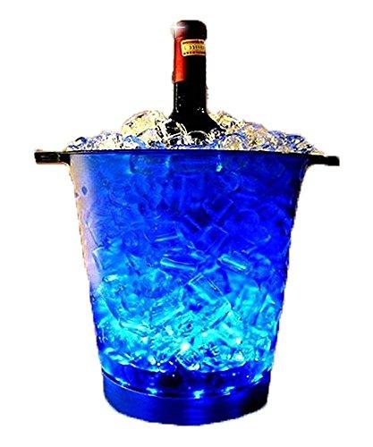 1stモール [ オシャレにボトルを冷やせる! シャンパンクーラー! ] シャンパン クーラー LED ライト ワイン クーラー オシャレ ブルー 電池式 ST-NLT-H003