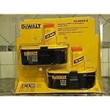 New Dewalt Dc9096-2 Pack of (2) Cordless Tool 18 Volt Xrp Battery Pack Sale