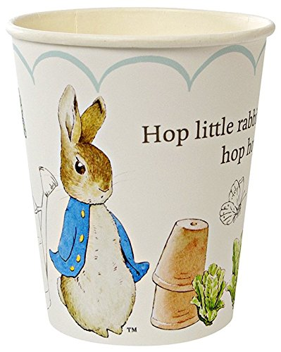 Meri Meri Party Cups, Peter Rabbit Scallop Pattern