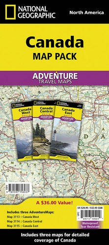Canada [Map Pack Bundle] (National Geographic Adventure Map) (Road Map Canada compare prices)
