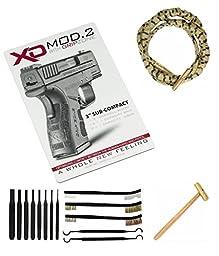 Otis Ripcord 9mm/.380/.38/357 Barrel Cleaner + Springfield Armory XD Vertical Gunsmith Counter Bench Gun Cleaning Mat + 8pc Pin Punch Tool + 8\