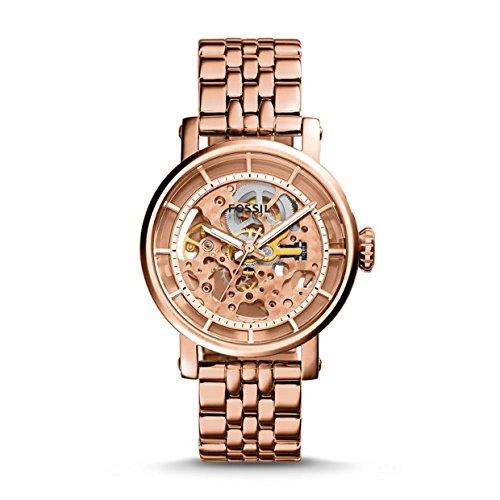 Fossil me3065Original Boyfriend orologio automatico Orologio da donna in acciaio inox 50m Analog rosa