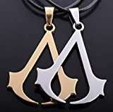 Assassin's Creed Logo Badge Cosplay Pandant Necklace 2pcs
