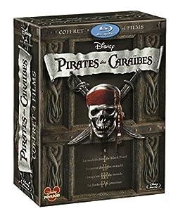 Pirates des Caraïbes Tetralogie (La Malédiction du Black Pearl / Le Secret du Coffre maudit / Jusqu'au bout du monde / La fontaine de jouvence) [Blu-ray]