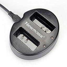 Newmowa Dual USB Charger for Canon LP-E10, EOS Rebel T3 T5 1100D 1200D Kiss X50