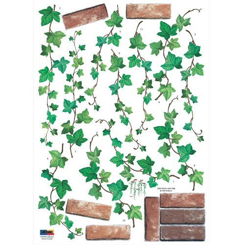 Hanging Brick Ivy Repositional Wall Decal