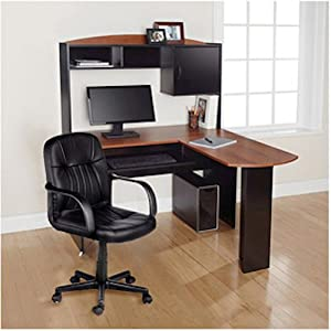 com: Modern L-Shaped Office Computer Workstation Organizer Corner Desk