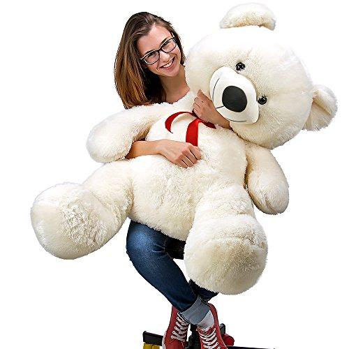 """Plüschbär Teddy """"Riesenknuddel"""" 100 cm Weiß - Teddybär Stofftier Bär"""