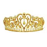 (アリスパブ クチュール)AlicePub Couture クリスタル ラインストーン 結婚式ティアラ ページェント パーティ 王冠 ヘッドピース,ダークゴールド