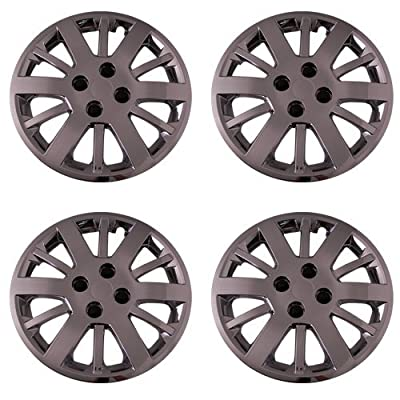 Set of 4 Chrome 15 Inch Aftermarket Replacement Hubcaps with Bolt On Retention System - Part Number: IWC453/15C