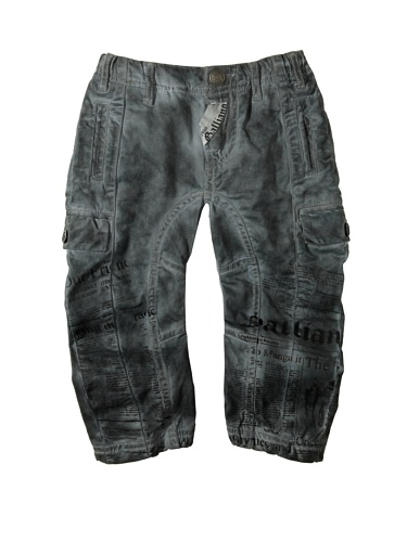 john-galliano-baby-printed-cargo-pant-grey-6-months
