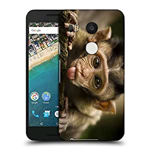 Snoogg Teasing Monkey Designer Protective Back Case Cover For LG NEXUS 5X