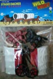 Wild West Stagecoaches (2) w/4 Horses Playset (Bagged) 1/32 Playsets
