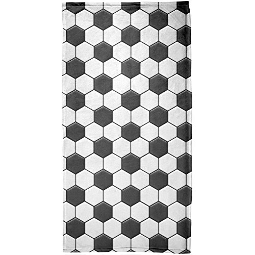 Beach Towel Modern Soccer Ball All Over Design 30 x 60 Inches Machine Washable, Perfect for College Dorm, Pools, Gyms, Beaches, Locker Rooms, Bathroom Shower Wrap, Beach Wrap, Bath Wrap, Spa Wrap (Bubble Wrap 100 Square Feet compare prices)