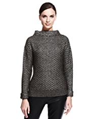 Autograph Metallic Knitted Jumper