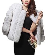 Aishang Womens Luxury Winter Fox Faux…