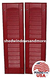 Louvered shed shutter or playhouse shutter for 14x27 window