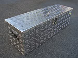 """TMS® Aluminum Tool Box Tote Storage for Truck Pickup Bed Trailer Tongue 49""""x15"""" +Lock"""