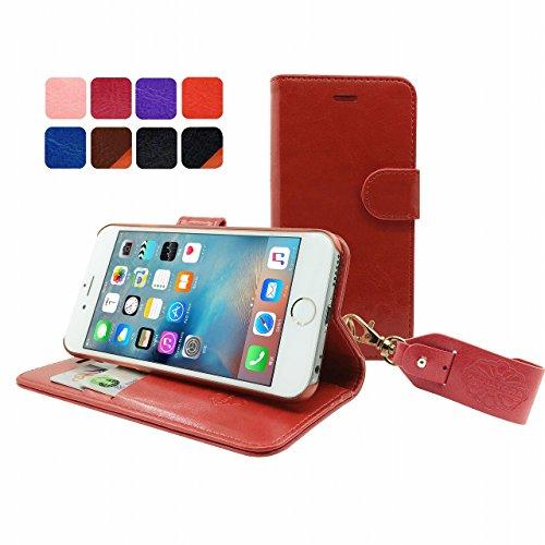 HANATORA iPhone 6S/6 対応 PUレザー 手帳型ケース RED YHX6S-01RED