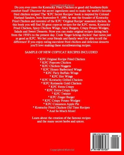 KFC Secret Recipes: KFC Style Chicken Recipes, Salads and Desserts: Volume 1