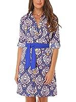 Almatrichi Vestido Camisero Leticia (Azul)