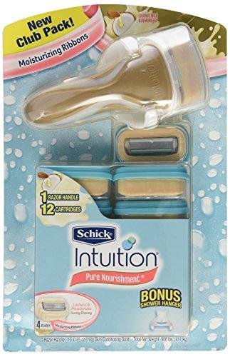schick-intuition-pure-nourishment-razor-with-12-cartridges