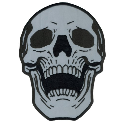 Hot Leathers Reflective Live Free Skull Patch (4