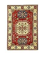 L'Eden del Tappeto Alfombra Uzebekistan Rojo / Multicolor 102 x 145 cm