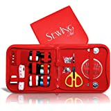 Sewing Aid - Emergency Sewing Kit for Travel - Small and Portable Set with Free E-book - Great for Adults and Children