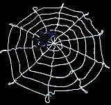 ハロウィン天井壁飾り装飾クモの巣/夜光PVCスパイダーウエブ60�p/切り絵壁装飾3M5点セット(かぼちゃ、こうもり、ドクロ、蜘蛛、幽霊)(クモの巣1.5M(白))