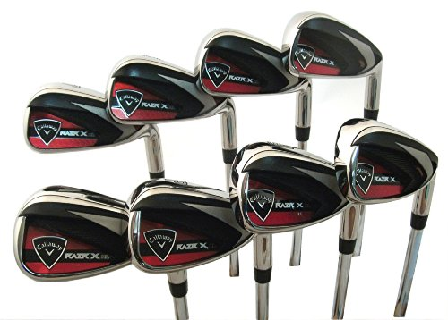 Callaway RAZR X HL 4, 5, 6, 7, 8, 9, Pitching Wedge & Approach Wedge Iron Set (Right Hand, Steel, Uniflex)