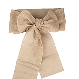 AerWo® 12pcs/Lot Burlap Chair Sashes Bows Rustic Wedding Party Decoration and Bridal Showers DIY Crafts - 5.9 by 94 inch