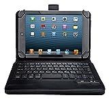 【選べる5色】IVSO®オリジナルLaVie Tab W TW708/BAS ケース, LaVie Tab W TW708/BAS キーボード (7-8インチのタブレットも適用)  開閉で自動的 PUレザーケース マグネット着脱可能 一体型Bluetoothワイヤレスキーボード (lavie tab w tw708 ケース, ブラック)