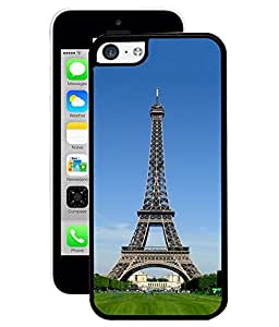 Fuson 2D Printed Eiffel Tower Wallpaper Designer Back Case Cover for Apple iPhone 5C - D832