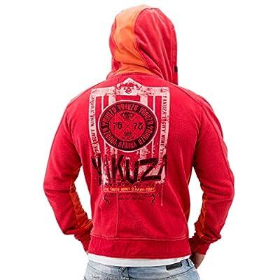 Yakuza ORIGINAL Zip Hoodie HZB 528 - rot / orange