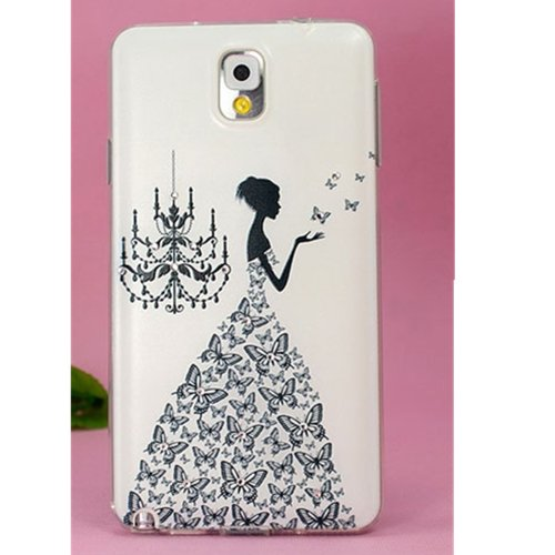 EVTECH(TM) 3D TPU Embossed Series Princess Handmade