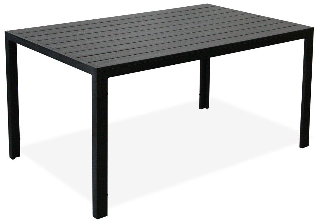 """KMH®, Schöner schwarzer Holzimitat-Tisch """"Tuco"""" (150 x 90) (#106036) jetzt kaufen"""